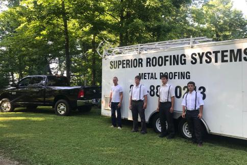Superior Roofing Systems work crew
